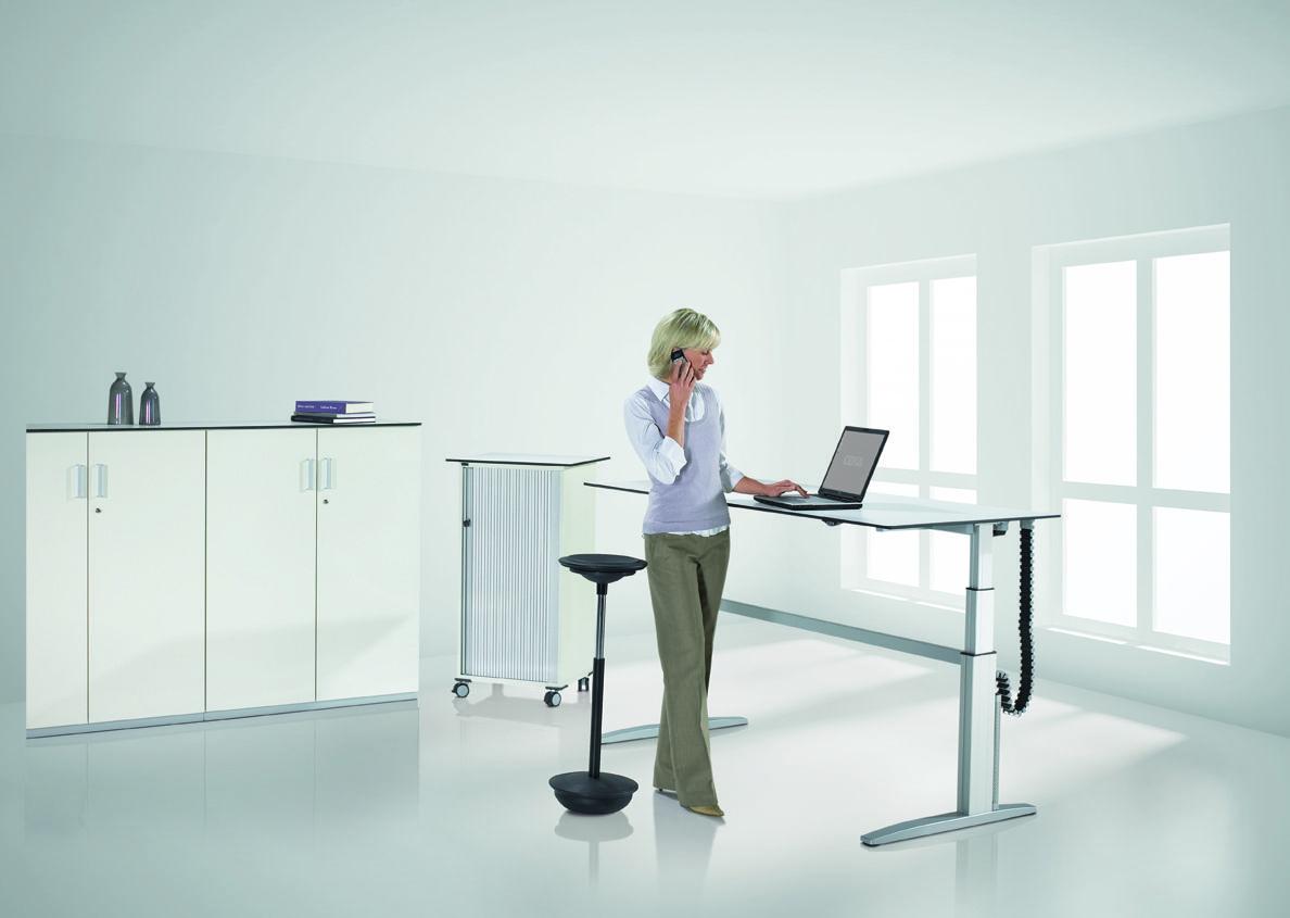 mobilier de bureau assis debout r glable en hauteur lectrique. Black Bedroom Furniture Sets. Home Design Ideas