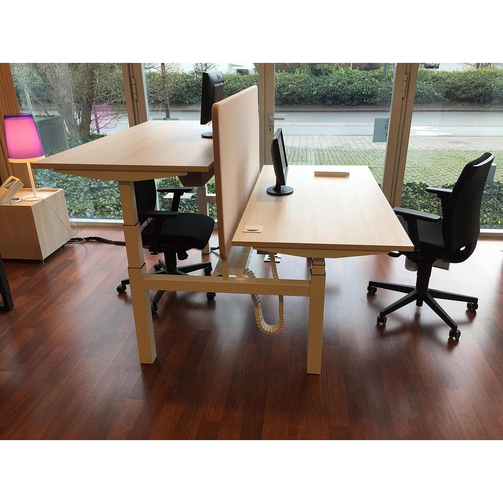 Bureau bench E Model 160x170x65-131cm